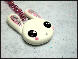 Super Cute Bunny Necklace by GrandmaThunderpants