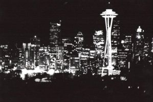 Seattle at Night by Synaesthetik