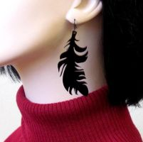 Super Sale 20% off Feathers earrings by baronyka