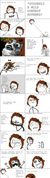Rage Comic about October Contest by SillouettedArtist