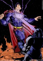 Superman vs Darkseid by pauloskinner