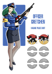 Fakemon: Police Officer Gretchen by MTC-Studios