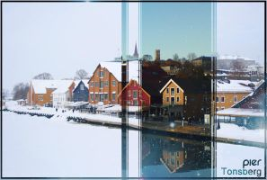 Tonsberg Brygge Winter and Summer by stiannius