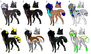 Scene Wolf Adoptables Batch -CLOSED- by SplashTheCrazyWolf