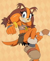 Sticks the Badger by ss2sonic