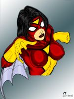 SPIDER-WOMAN coloured by hotrod5