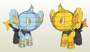 Papercraft - Shinx by Jyxxie