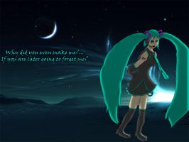 Disappearence of Miku Hatsune by RunnerGuitar