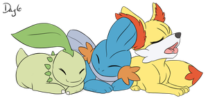 Day 6 - Three Favorite Starters (one of each type) by LindsayPrower