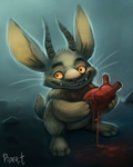 DAY 84. Jackalope Valentine (25 Minutes) by Cryptid-Creations