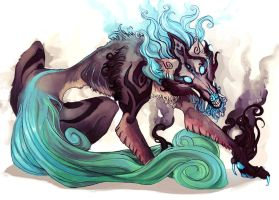 Adoptable Auction - Guardian Wolf CLOSED by Widdershins-Works
