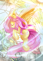 Stain Glass - Fluttershy by aaynra