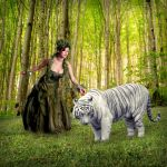fairie and tiger by scarabeedsable