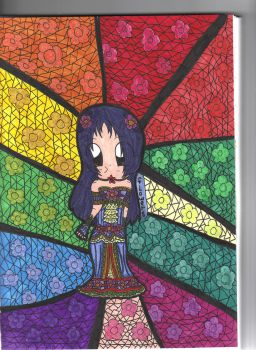 floral stained glass by Brie-Brie-frommage