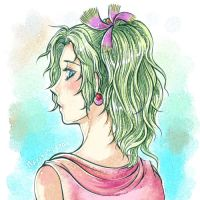 DFF : Tina-digital watercolor by Inachime