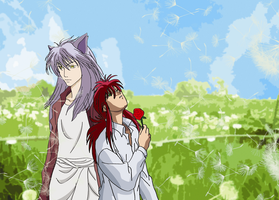 + Kurama and Youko by KeeperOfTheNight