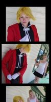 Down On One Automail Knee [Edward Elric] by BlueWingXIII