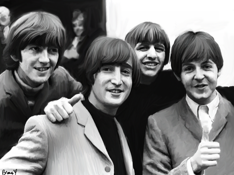 Beatles in Black and White by Brenners