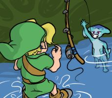 The Legend of Zelda: Fishing by jaideliete