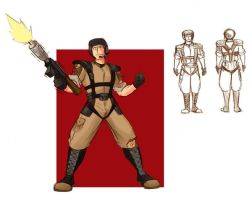 Contra Fan Character Entry by CaptStrife