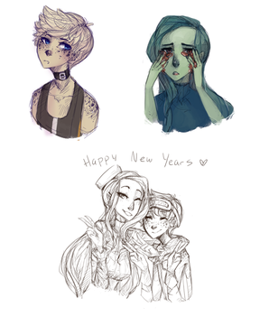 New Year's Doodles by Forestii