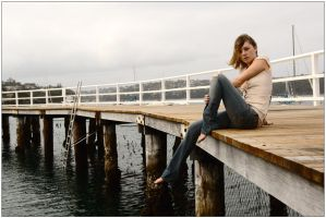 Peach - relaxed on wharf 1 by wildplaces