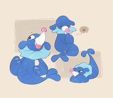 So Many Popplios by buttersheeps
