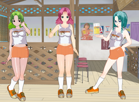 Oku-sama wa Mahou Shoujo girls Hooters by quamp