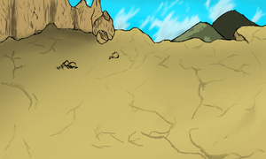 Rough Sketch - Canyon background by Warbot40