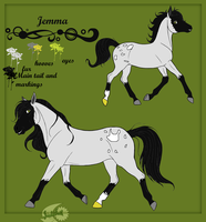 Jemma Refrence Sheet by JeweledFaith
