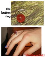 Button ring by MissCloverfield