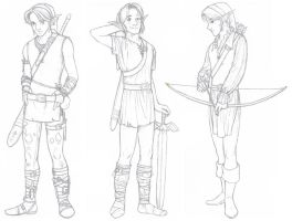 Variations on a Theme: Link by kokiri85