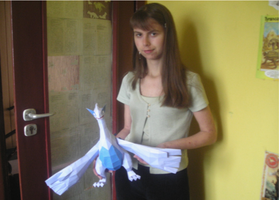 I and Lugia papercraft model by Weirda208