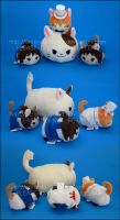 Stacking Plush: The Cat Returns Set by Serenity-Sama