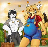 Pregfur_Shiro's dream by geckoguy123456789
