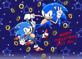 Merry Christmas by Sonic.C and Sonic.M by RougeBatGirl86