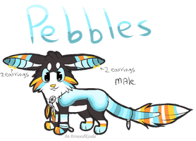 Pebbles Ref sheet by PawesomeSauce