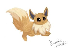 "My ""Realistic"" Eevee by Evoli-niceli"