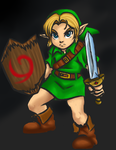 Young Link Redrawn by QueenPoro