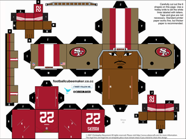 Carlos Rogers 49ers Cubee by etchings13