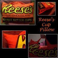 Reese's Cup Pillow by ljvaughn