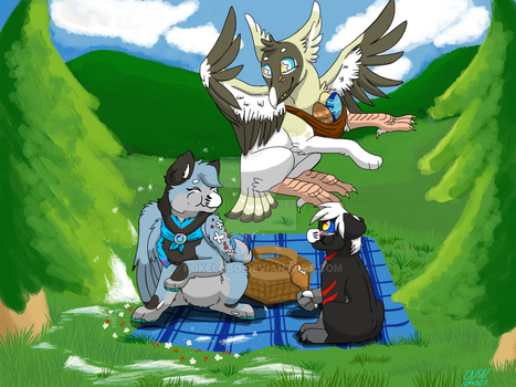 Picnic With a Friend by Pokelobo
