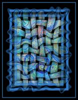 2682 abstractoblue by santosam81