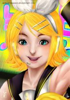 Kagamine Rin - Butterfly On My Right Shoulder by Ameliatanamas