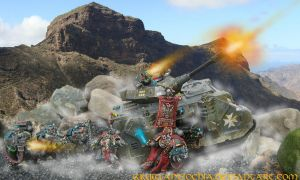 Space Marines in the battle . by Antiochia