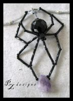 Crystal Spider Pendant by PurlyZig