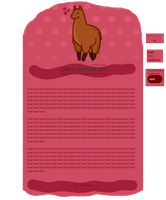 Llama Journal Skin by Nniicole