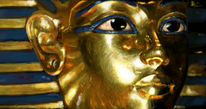King Tutankhamun - digital drawing by Grimstitch