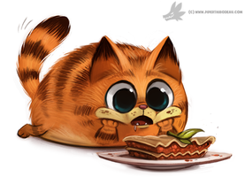 Day 802# Garfeild's First Lasagna by Cryptid-Creations