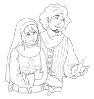 Commission: Serena and Tulio by hyperionwitch